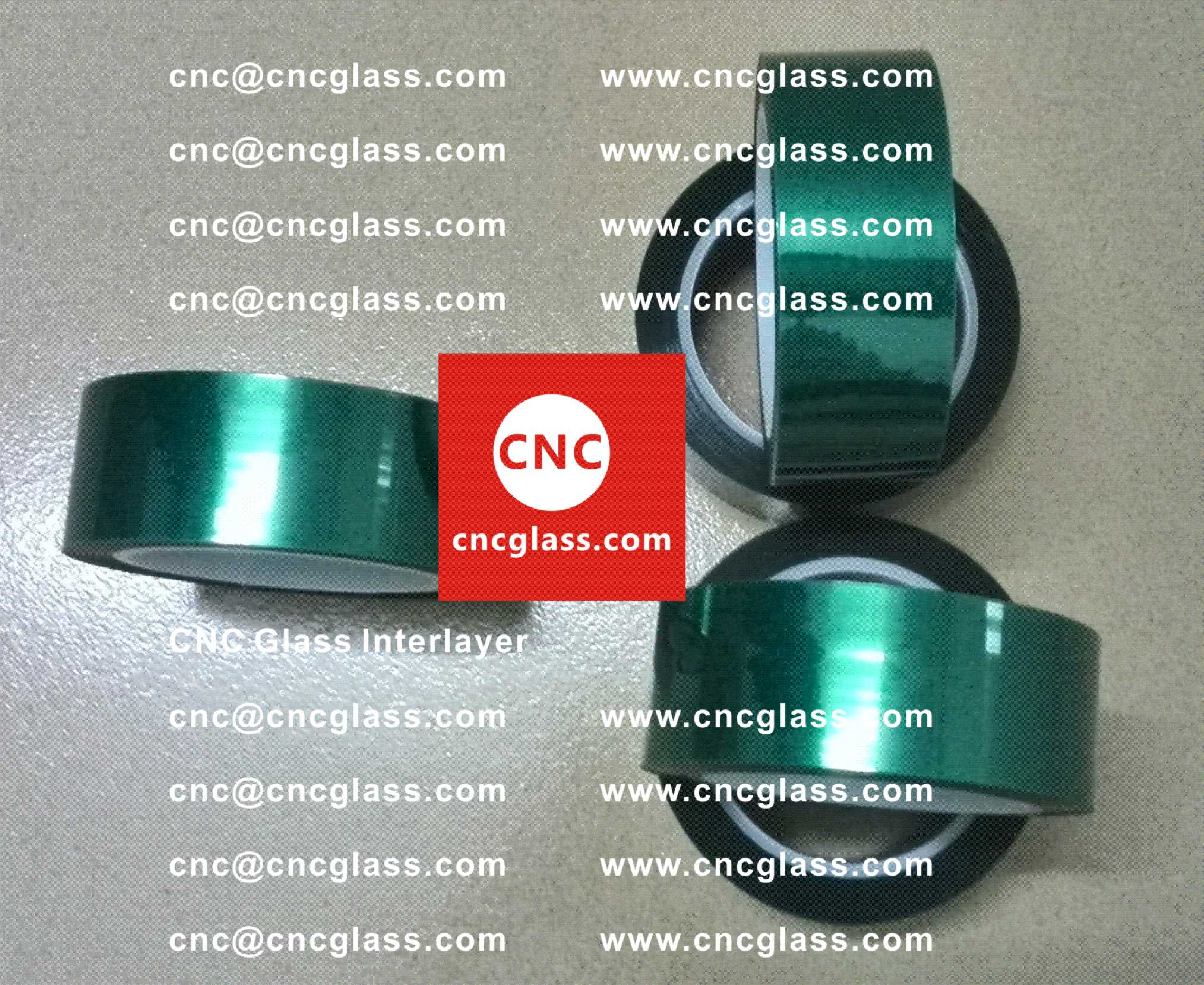 0002 Green Tape for safety glazing, eva glass laminating