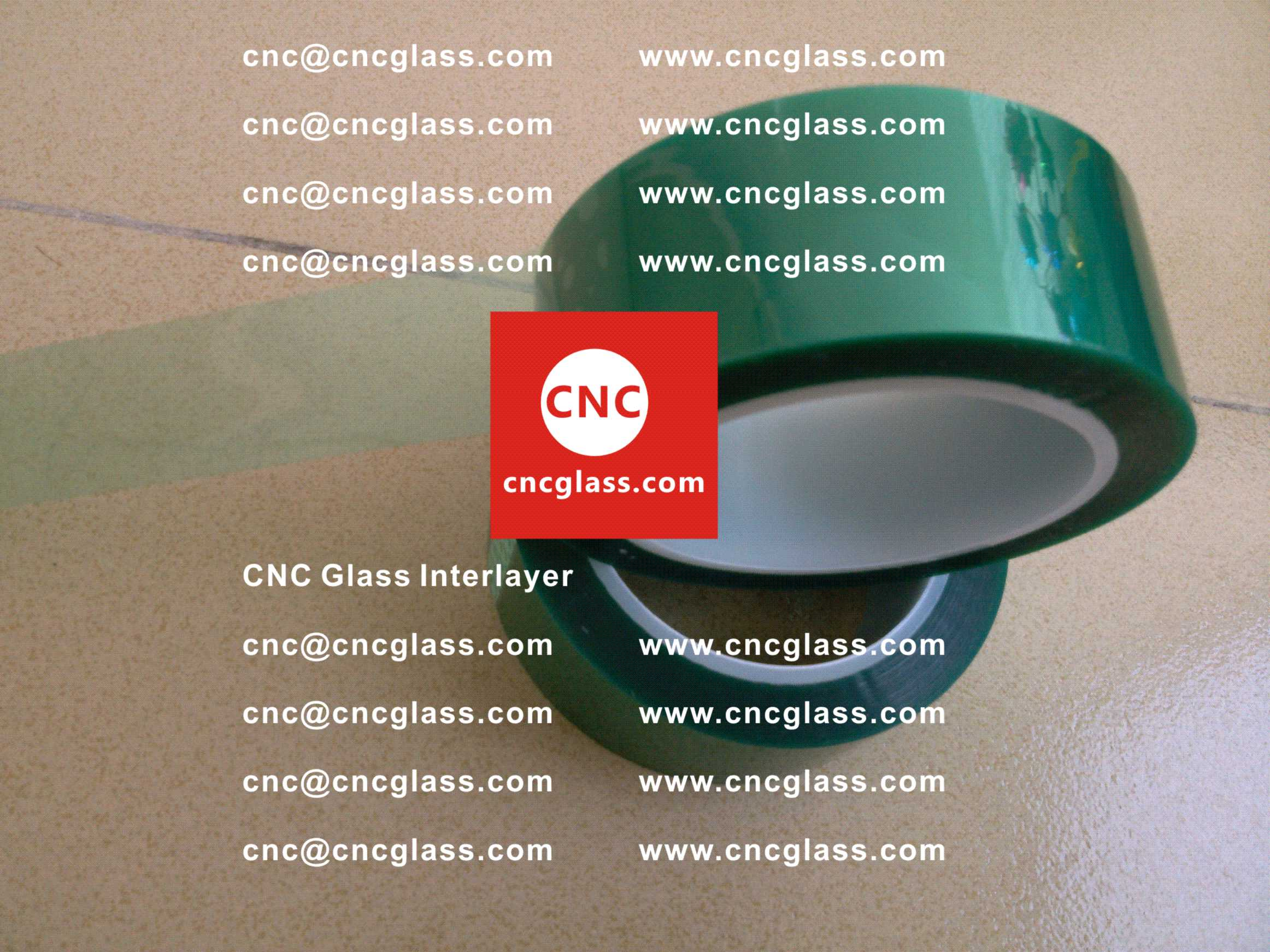 005 Green Tape for safety glazing, eva glass laminating