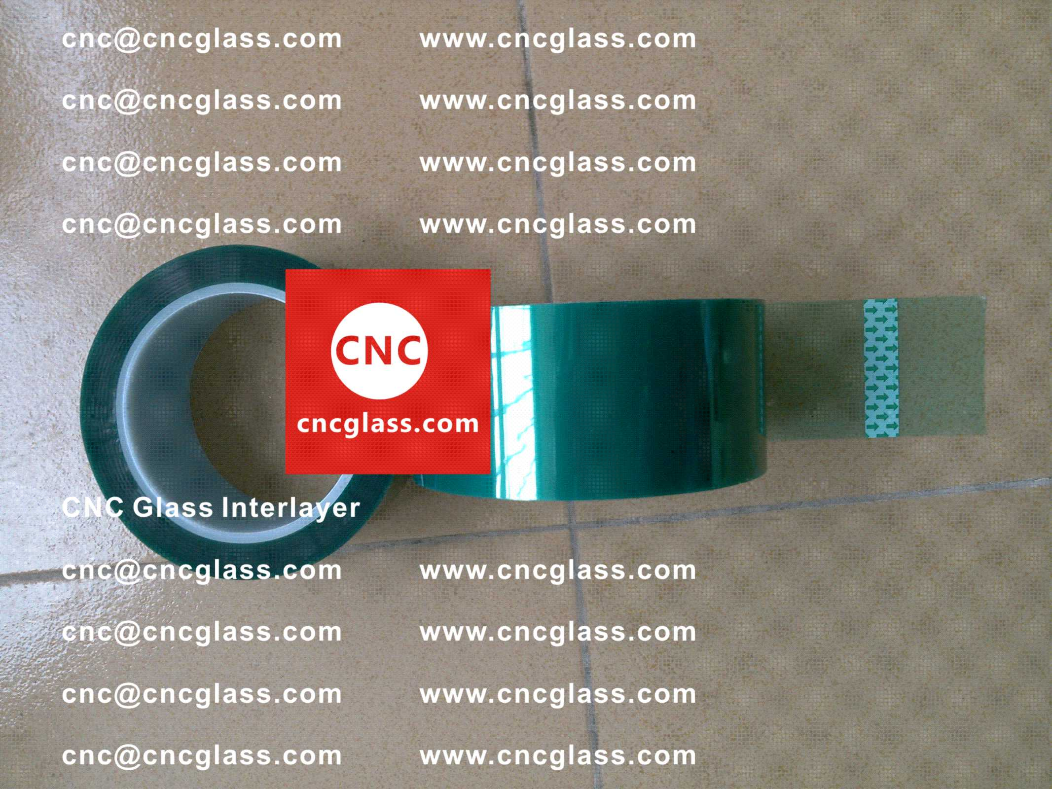 006 Green Tape for safety glazing, eva glass laminating