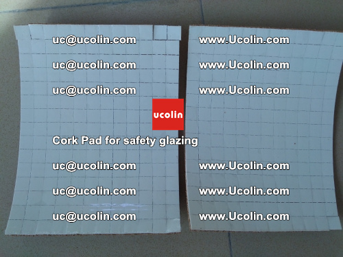 Cork Pad for glass, safety glazing (1)