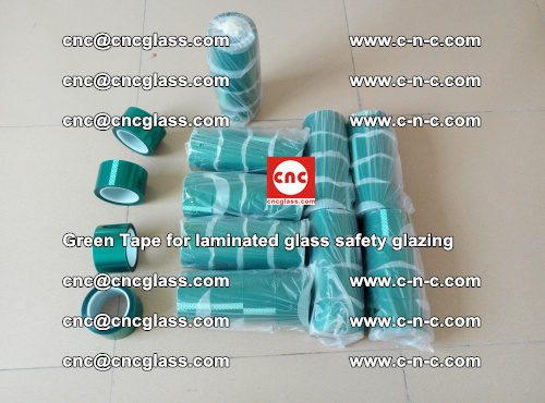 Green Tape for laminated glass safety glazing, EVA FILM, PVB FILM, SGP INTERLAYER (1)