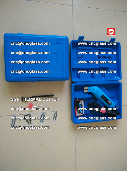 SGP THERMAL CUTTER, cleaning safety laminated galss edges (12)