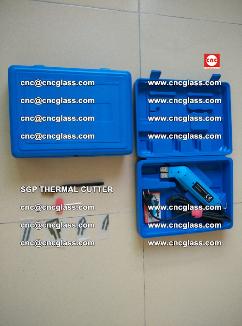 SGP THERMAL CUTTER, cleaning safety laminated galss edges (14)