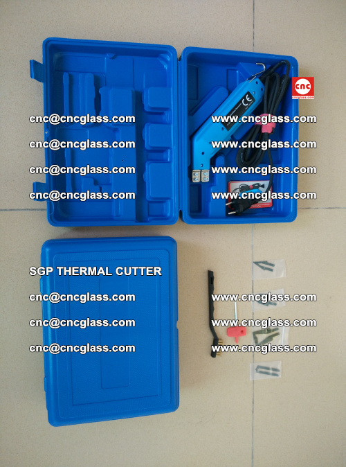 SGP THERMAL CUTTER, cleaning safety laminated galss edges (15)