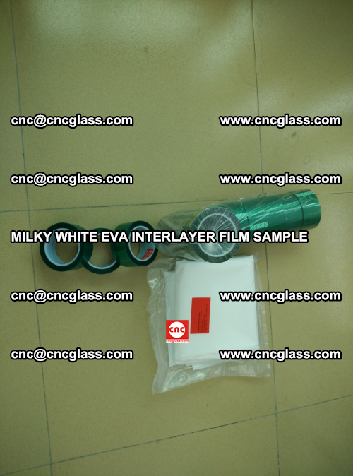 EVA FILM SAMPLE, MILKY WHITE, FOR SAFETY GLAZING, EVAVISION (14)