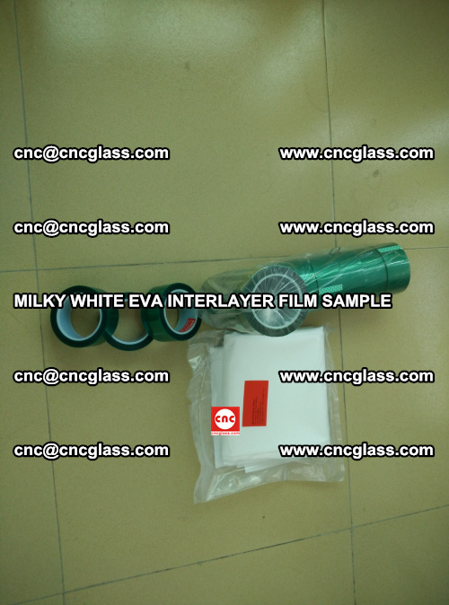 EVA FILM SAMPLE, MILKY WHITE, FOR SAFETY GLAZING, EVAVISION (15)