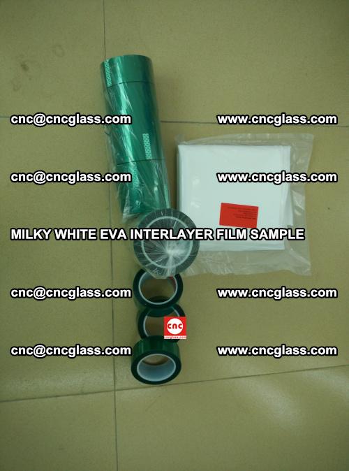 EVA FILM SAMPLE, MILKY WHITE, FOR SAFETY GLAZING, EVAVISION (24)