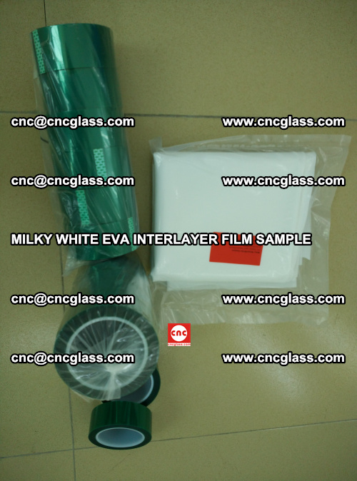 EVA FILM SAMPLE, MILKY WHITE, FOR SAFETY GLAZING, EVAVISION (32)