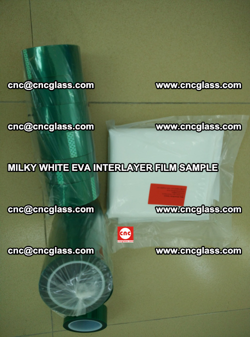 EVA FILM SAMPLE, MILKY WHITE, FOR SAFETY GLAZING, EVAVISION (36)