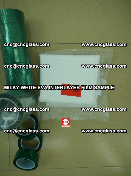 EVA FILM SAMPLE, MILKY WHITE, FOR SAFETY GLAZING, EVAVISION (54)
