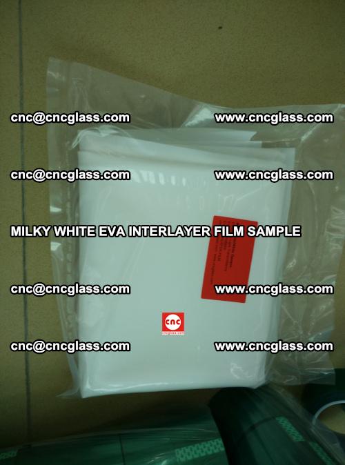 EVA FILM SAMPLE, MILKY WHITE, FOR SAFETY GLAZING, EVAVISION (69)