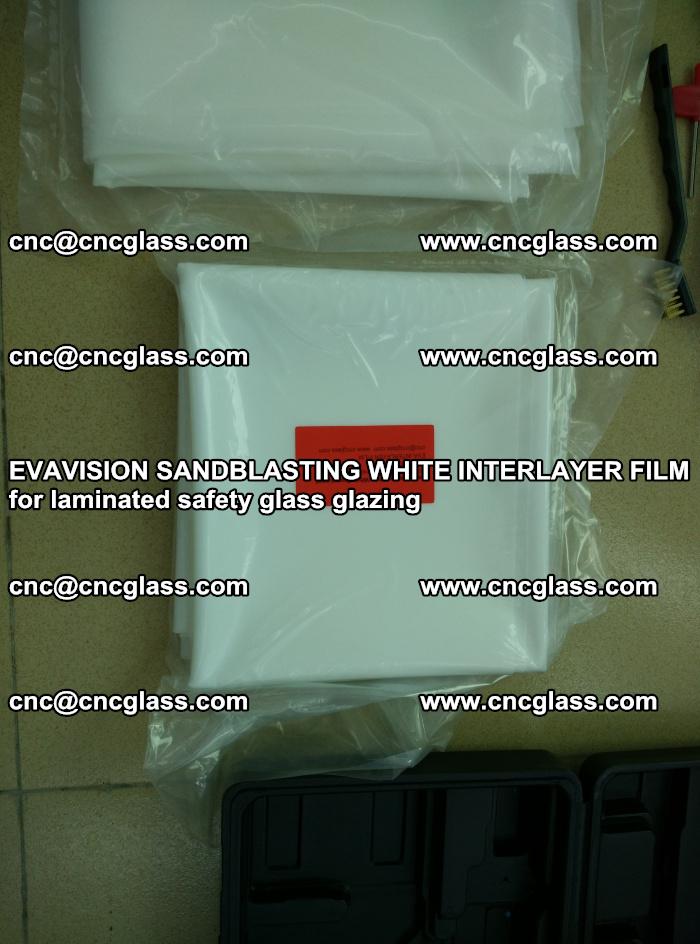 EVAVISION SANDBLASTING WHITE INTERLAYER FILM for laminated safety glass glazing (10)
