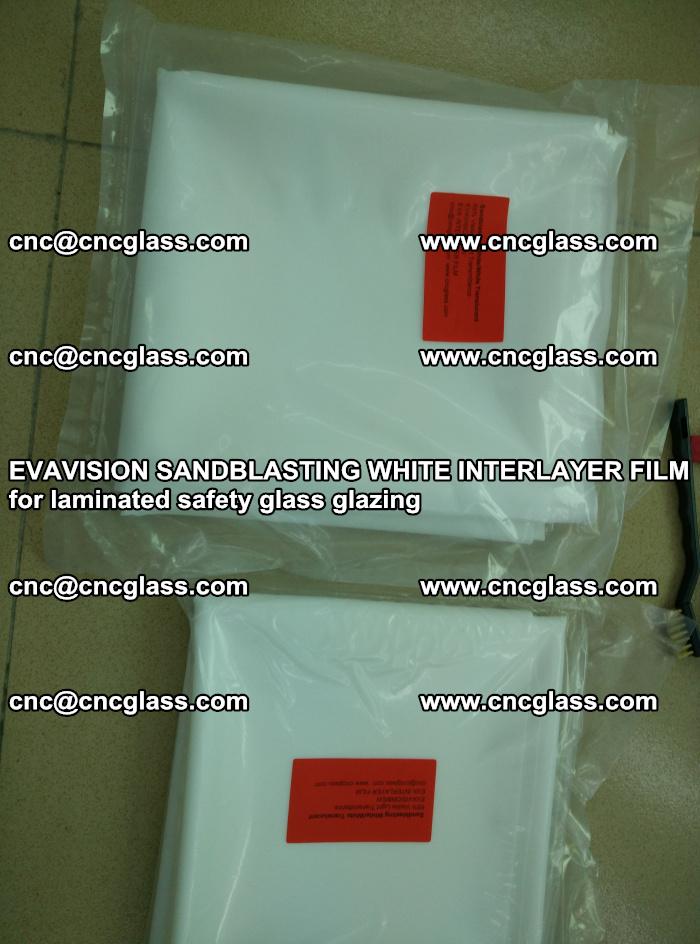 EVAVISION SANDBLASTING WHITE INTERLAYER FILM for laminated safety glass glazing (15)