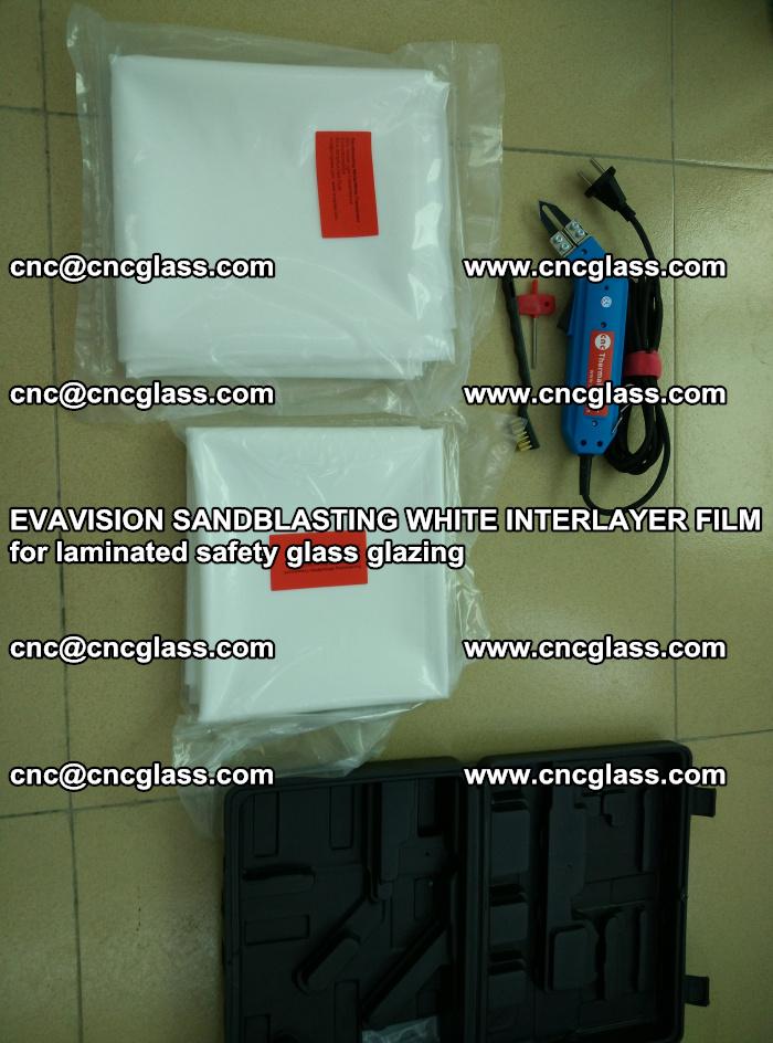 EVAVISION SANDBLASTING WHITE INTERLAYER FILM for laminated safety glass glazing (2)