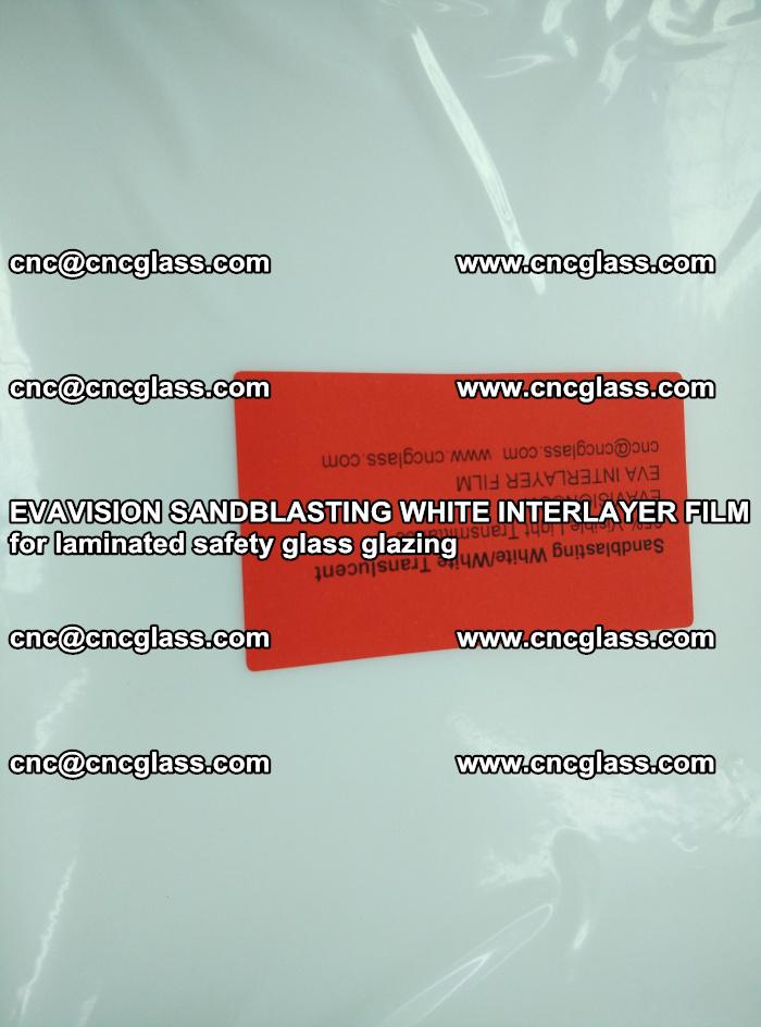 EVAVISION SANDBLASTING WHITE INTERLAYER FILM for laminated safety glass glazing (20)