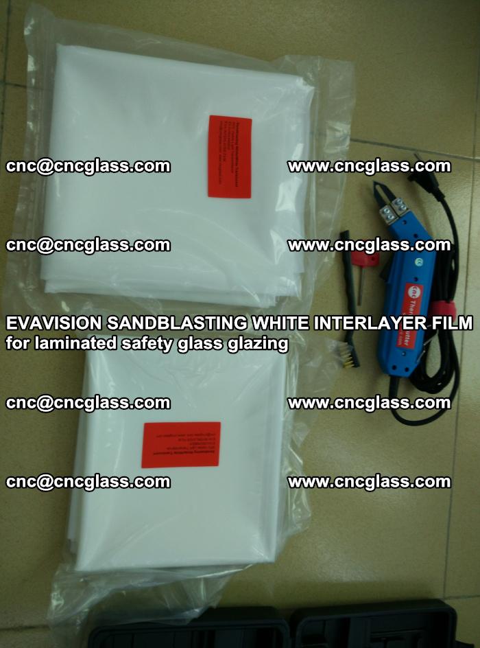 EVAVISION SANDBLASTING WHITE INTERLAYER FILM for laminated safety glass glazing (25)