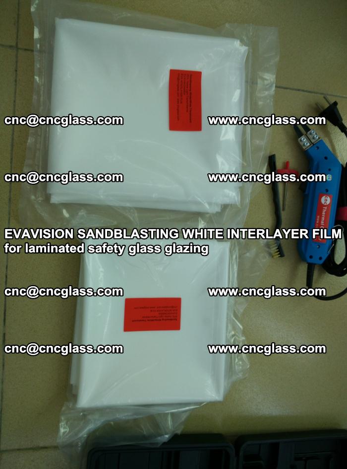 EVAVISION SANDBLASTING WHITE INTERLAYER FILM for laminated safety glass glazing (26)