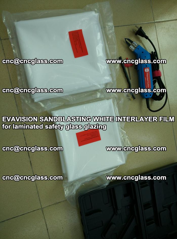 EVAVISION SANDBLASTING WHITE INTERLAYER FILM for laminated safety glass glazing (30)