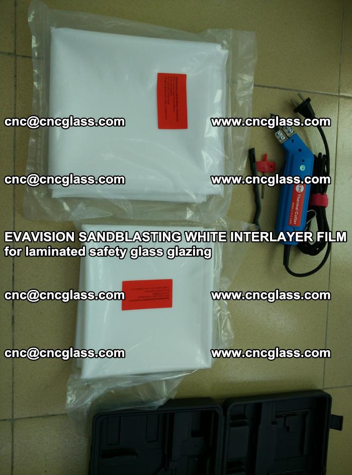 EVAVISION SANDBLASTING WHITE INTERLAYER FILM for laminated safety glass glazing (33)