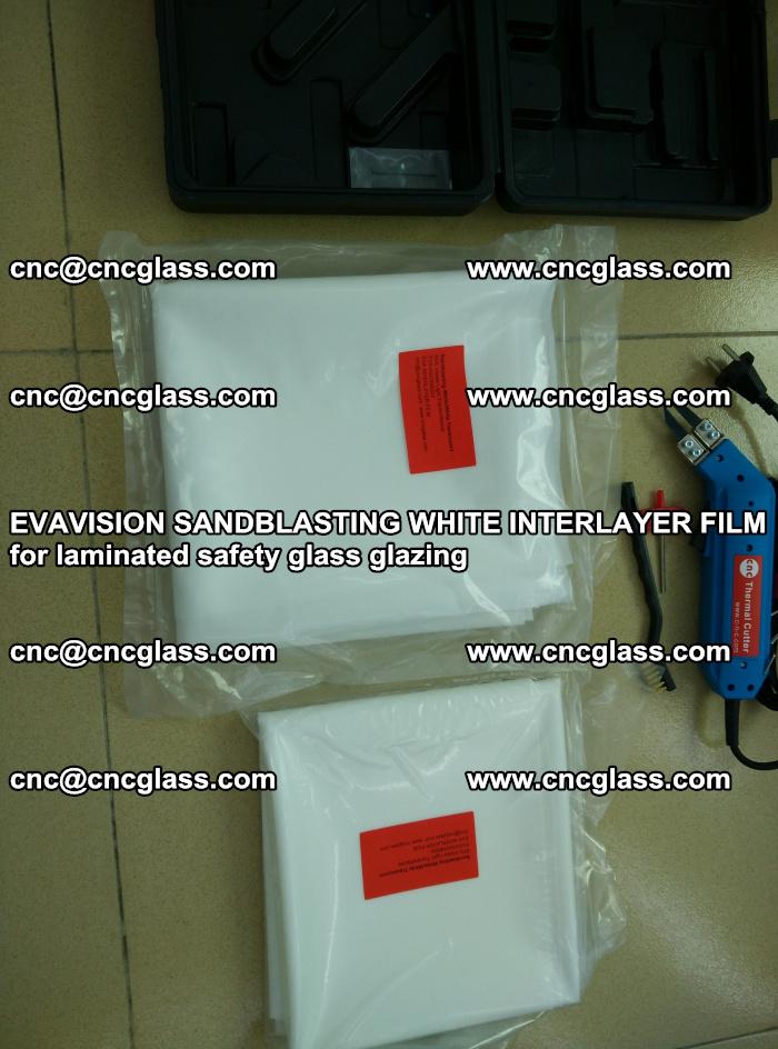 EVAVISION SANDBLASTING WHITE INTERLAYER FILM for laminated safety glass glazing (43)