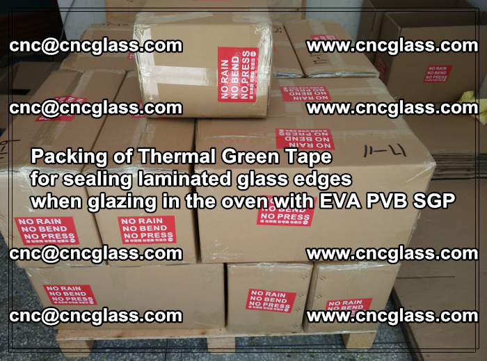 Packing of Thermal Green Tape for sealing laminated glass edges (1)