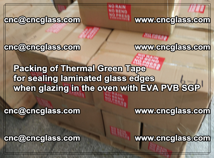Packing of Thermal Green Tape for sealing laminated glass edges (12)