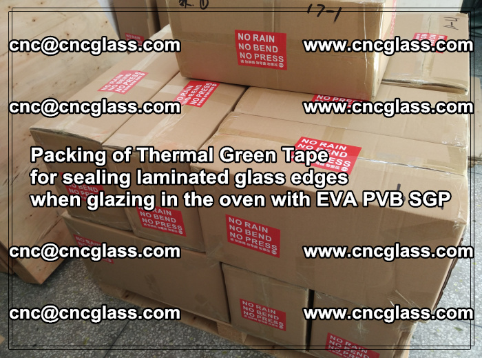 Packing of Thermal Green Tape for sealing laminated glass edges (13)