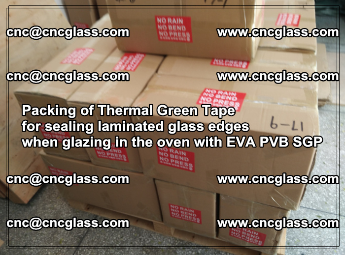 Packing of Thermal Green Tape for sealing laminated glass edges (16)
