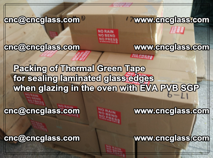 Packing of Thermal Green Tape for sealing laminated glass edges (18)