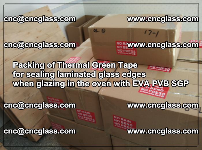 Packing of Thermal Green Tape for sealing laminated glass edges (21)