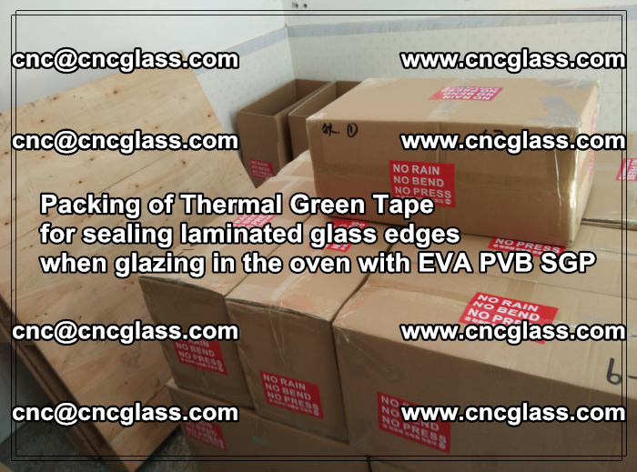 Packing of Thermal Green Tape for sealing laminated glass edges (23)