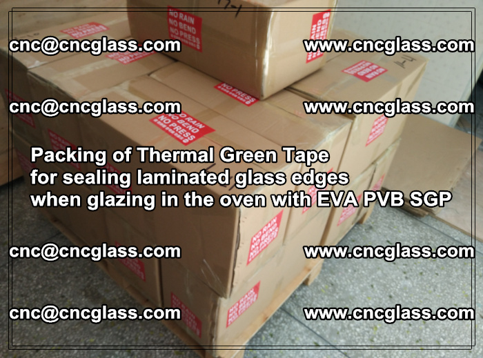 Packing of Thermal Green Tape for sealing laminated glass edges (24)