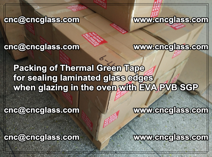 Packing of Thermal Green Tape for sealing laminated glass edges (27)