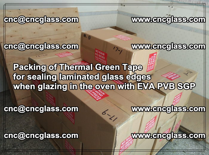Packing of Thermal Green Tape for sealing laminated glass edges (31)