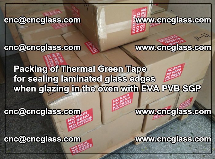 Packing of Thermal Green Tape for sealing laminated glass edges (4)