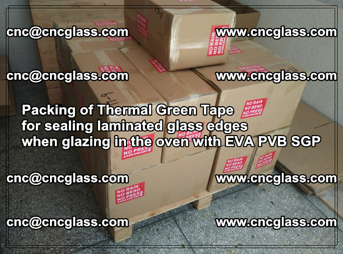 Packing of Thermal Green Tape for sealing laminated glass edges (43)