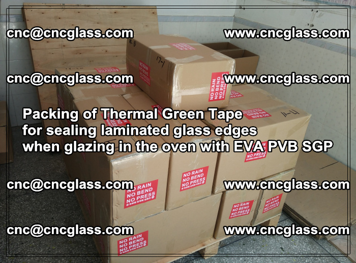 Packing of Thermal Green Tape for sealing laminated glass edges (47)