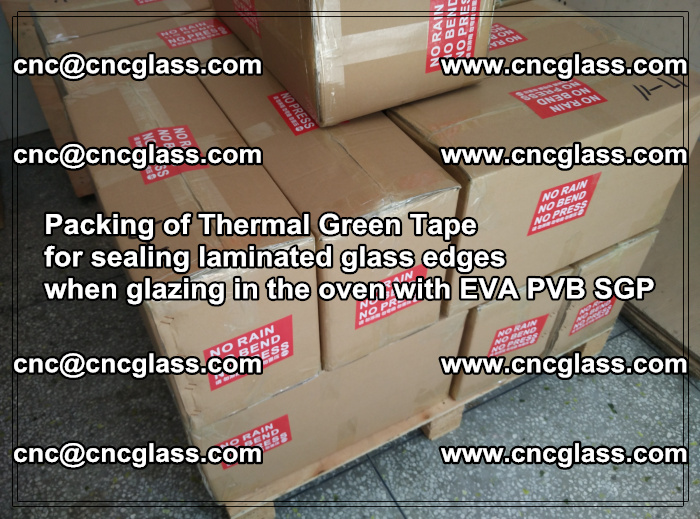 Packing of Thermal Green Tape for sealing laminated glass edges (5)
