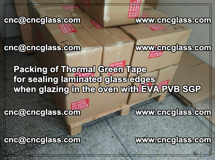 Packing of Thermal Green Tape for sealing laminated glass edges (52)