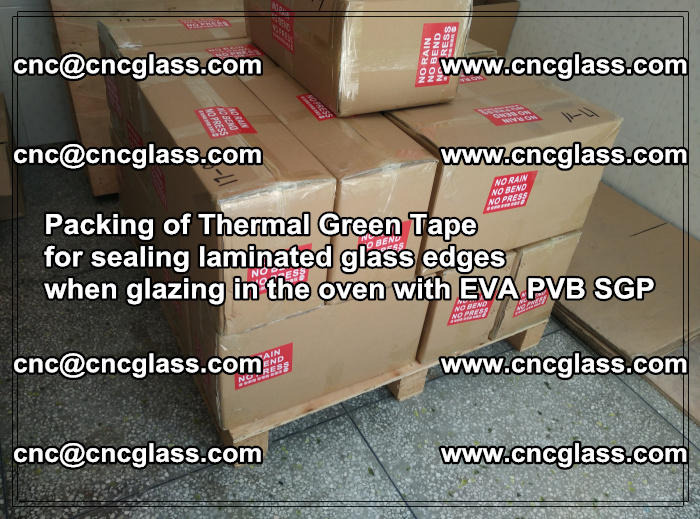 Packing of Thermal Green Tape for sealing laminated glass edges (54)