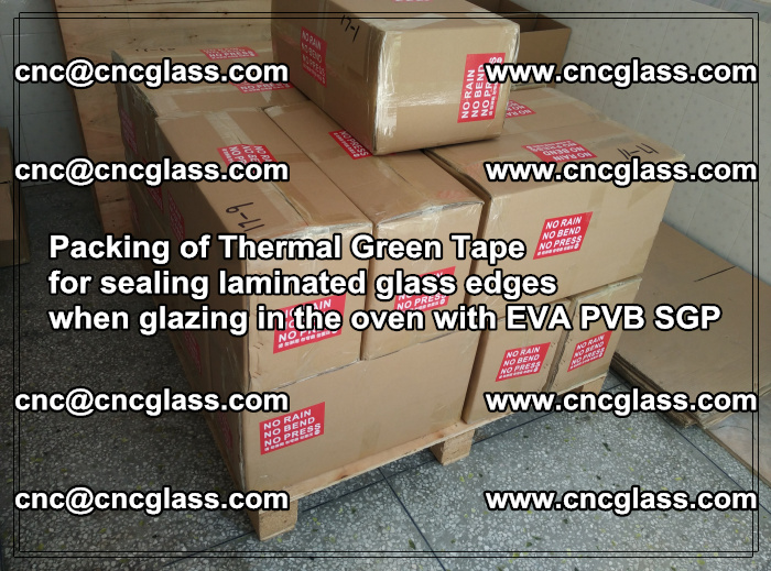 Packing of Thermal Green Tape for sealing laminated glass edges (55)