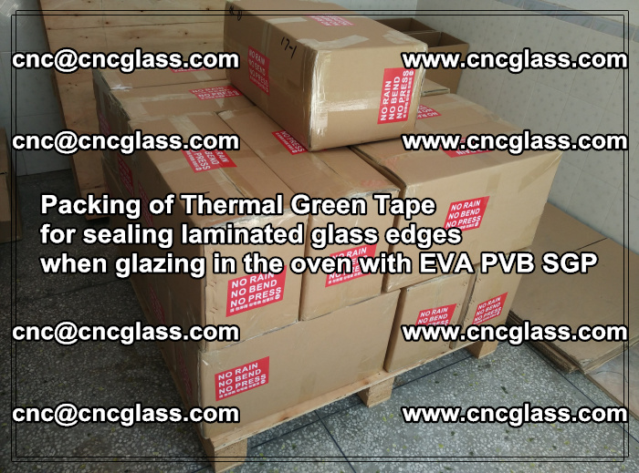 Packing of Thermal Green Tape for sealing laminated glass edges (56)