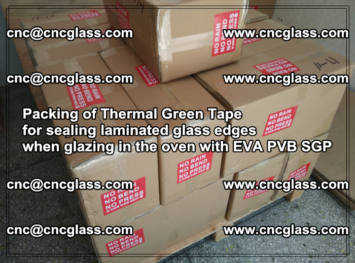 Packing of Thermal Green Tape for sealing laminated glass edges (6)