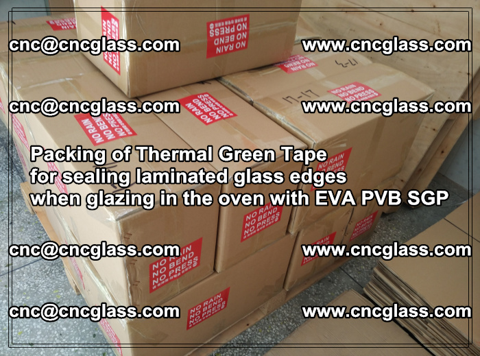 Packing of Thermal Green Tape for sealing laminated glass edges (61)