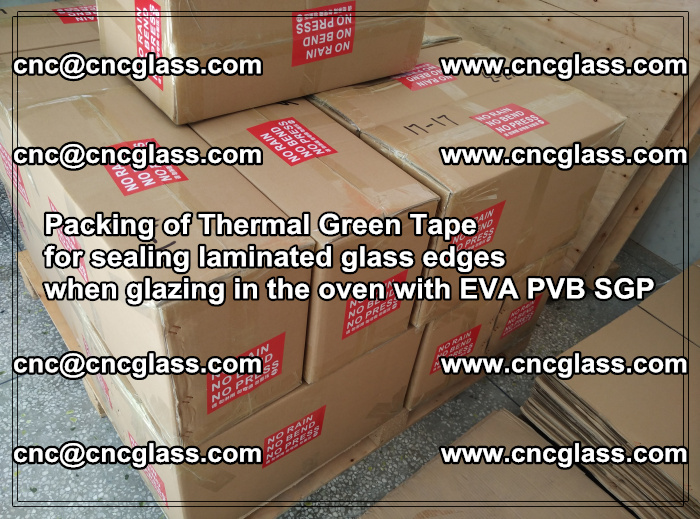 Packing of Thermal Green Tape for sealing laminated glass edges (62)