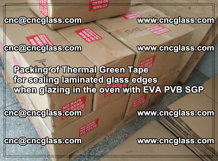 Packing of Thermal Green Tape for sealing laminated glass edges (63)
