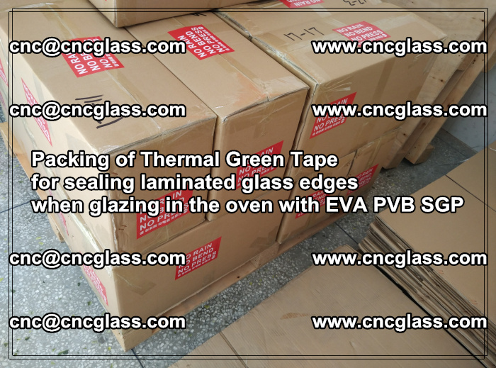 Packing of Thermal Green Tape for sealing laminated glass edges (66)