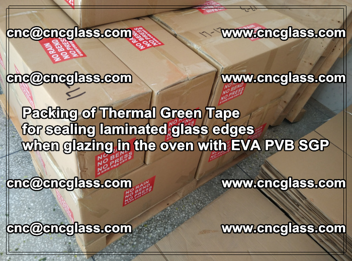 Packing of Thermal Green Tape for sealing laminated glass edges (68)