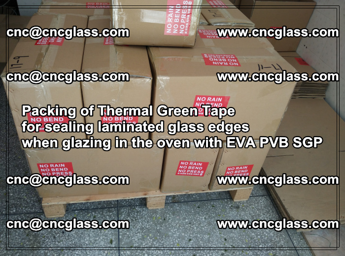 Packing of Thermal Green Tape for sealing laminated glass edges (73)
