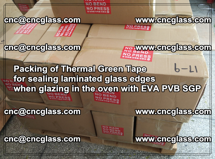 Packing of Thermal Green Tape for sealing laminated glass edges (79)